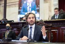 Imagen de archivo del jefe de Gabinete, Santiago Cafiero, en oportunidad de brindar su informe de gestión ante la Cámara de Diputados.