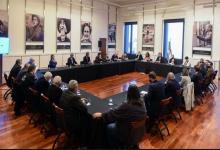 Cafiero y Guzmán con empresarios y sindicalistas