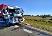 Chocaron dos camiones en la Autovía 14 y debieron rescatar uno de los heridos