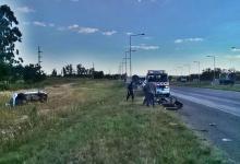 Una camioneta volcó en Autovía 14