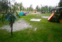 Por el temporal, debieron evacuar a niños scouts de un camping en Ibicuy
