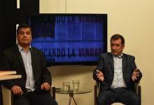 Marcelo Casaretto, candidato a diputado nacional y Edgardo Kueider, candidato a senador nacional por el Frente de Todos.