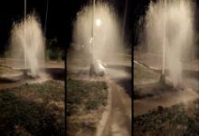 caño de agua reventado barrio 300 Viviendas