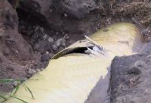 caño de agua roto calle Rondeau