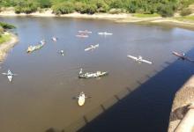 Realizaron una marcha náutica en Colón por los humedales