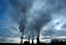 Vista de una planta térmica de carbón.