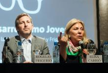 Rogelio Frigerio y Elisa Carrió