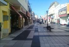 Peatonal San Martín vacía