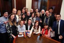 Cristina Fernández y parlamentarios
