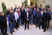 Dirigentes de CGT con el Presidente Alberto Fernández