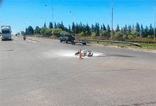 El impacto entre la moto y la camioneta se produjo aproximadamente a las 15 del miércoles pasado, en la intersección de la Ruta Nacional N° 12 y calle Newbery de Paraná.