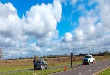 Fuerte choque entre un camión y un auto en ruta 127