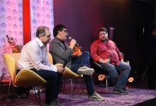 """Diego Cabot (izquierda), Osvaldo """"Coni"""" Cherep (centro) y Nicolás Wiñazki (derecha) en el ciclo de charlas de ANÁLISIS disertaron sobre """"Periodismo y justicia en la Argentina""""."""
