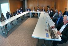 El encuentro tuvo lugar en la sede de la Comisión Administradora del Río Uruguay (CARU).