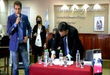Cresto y Oliva firmaron convenio