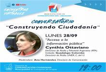 """Cynthia Ottaviano cierra el Conversatorio """"Construyendo Ciudadanía"""""""