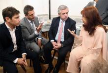 Kicillof, Massa, Fernández y Cristina Kirchner.