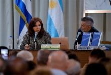 Cristina Kirchner durante la presentación de su libro en Cuba.
