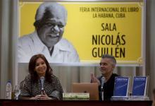 """Durante la presentación de su libro """"Sinceramente"""" en la feria del libro de La Habana, Cristina Kirchner se refirió a la negociación de la deuda argentina con el Fondo Monetario."""