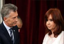 Cristina Fernández con Mauricio Macri