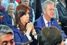 Cristina Kirchner en una de las audiencias del juicio oral