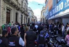 Imagen de archivo del malestar de los trabajadores de El Diario, quienes hace 28 meses están esperando que les paguen sus salarios caídos. El juez de la causa, Ángel Moia, se destaca por su pasividad.