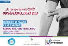 Urdinarrain donación de plasma