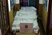 La cocaína decomisada en Uruguay tuvo un peso total de 4,4 toneladas. Es el mayor secuestro en la historia de ese país.