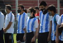"""""""Los Murciélagos"""" dieron una lección de deporte adaptado en la cancha de Patronato"""