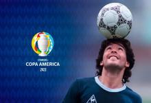 Con un show audiovisual, Conmebol homenajeó a Maradona en la previa del debut argentino