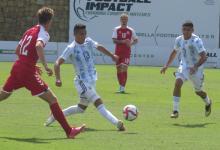 Fútbol: la selección argentina sub 23 ganó agónicamente un amistoso rumbo a Tokio 2020