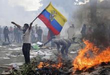 El presidente ecuatoriano, Lenin Moreno, ordenó salir a los militares a la calle para reprimir las protestas.
