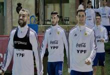 Argentina entrenó en Mallorca con Messi en el gimnasio, Martínez en duda y sin Kannemann
