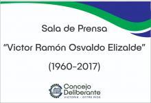 """Designaron """"Víctor Elizalde"""" a la sala de prensa del Concejo Deliberante de Victoria"""