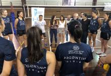 """Con las entrerrianas Fresco y Michel las """"Panteras"""" recibieron a la secretaria de Deportes"""