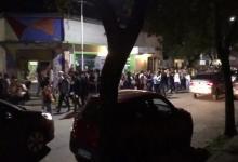 festejo de estudiantes en Chajarí