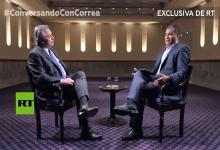 Fernández entrevistado por Correa