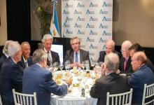 Fernández almorzó días atrás con los empresarios de AEA
