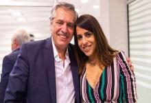 Alberto Fernández con Victoria Donda