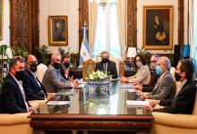 El Presidente recibió a la Mesa de Enlace