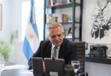 Alberto Fernández charla virtual con Putin