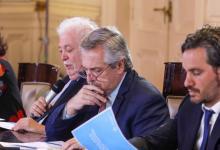 Alberto Fernández con Cafiero y Ginés