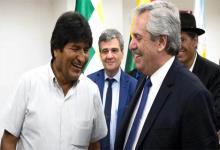 Aníbal Fernández con Evo Morales