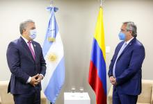 Alberto Fernández con Iván Duque