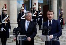 Fernández junto a Macron