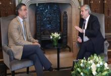 Alberto Fernández con Daniel Rafecas