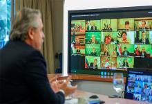 Fernández videoconferencia con líderes mundiales por la pandemia