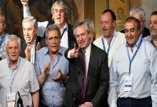 Alberto Fernández y dirigentes de la CGT