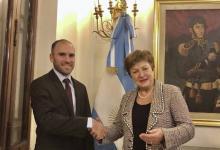El ministro de Economía, Martín Guzmán, y la titular del FMI, Kristalina Georgieva.