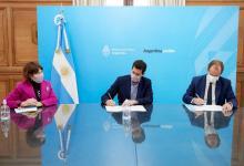 Gustavo Bordet se reunió con el ministro del Interior, Eduardo Wado de Pedro